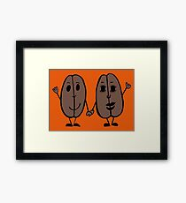 Mr and Mrs Coffee Bean Framed Print