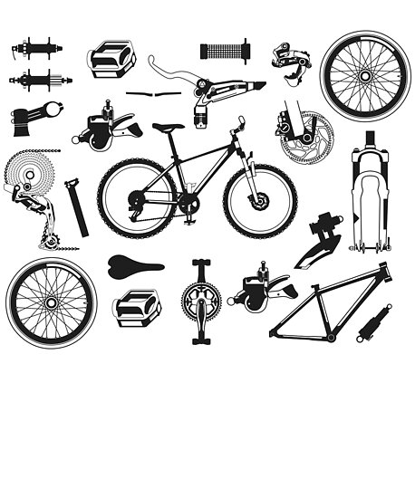 Vintage Bicycle Bike Anatomy Parts Cyclist T Men Women Posters