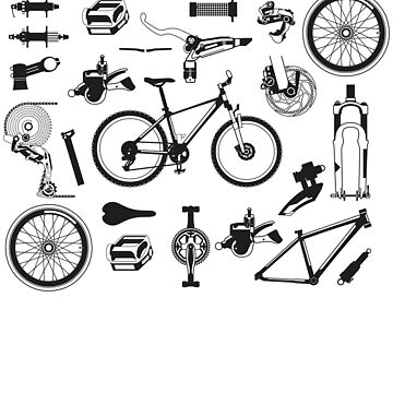 Vintage: Bicycle Bike Anatomy Parts Cyclist Gift Men Women by drlayson