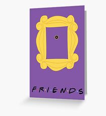 Friends Door frame poster Greeting Card