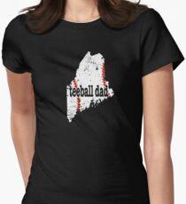 Maine Baseball Tee Ball Dad Coach Shirt Women's Fitted T-Shirt