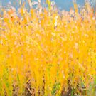 Abstract Colorful Cattails Grasses Painting by Bo Insogna