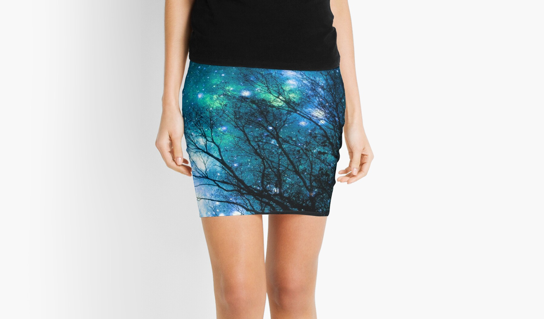 Black Trees Blue Space by 2sweetsDesign