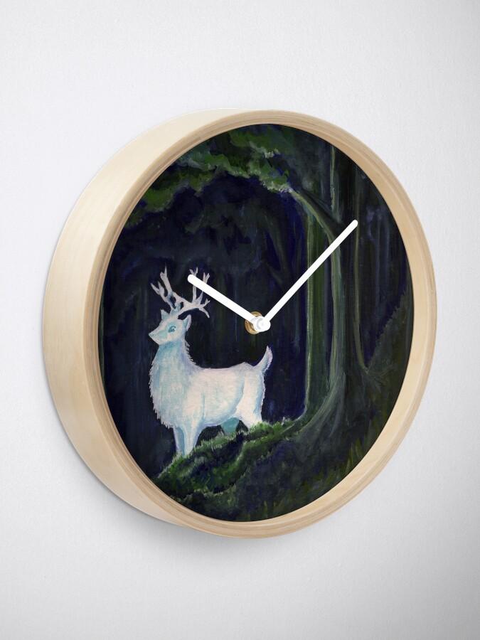 Alternative Ansicht von weißer Hirsch Uhr