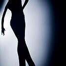 Female ballroom latin salsa dancer surrealist silhouette dance photo by edwardolive