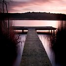 Hatchmere sunset by Jon Baxter