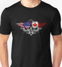 Canadian American Flag USA Canada Unisex T-Shirt