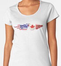 Canadian American Flag USA Canada Women's Premium T-Shirt