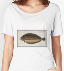 Vintage Illustration of a Flounder (1785) 2 Women's Relaxed Fit T-Shirt