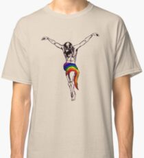 Gay Christ Wearing Rainbow LGBT Loincloth Classic T-Shirt