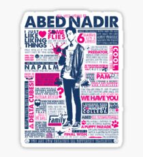 The Wise Words of Abed Nadir Sticker