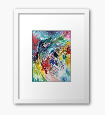 Rainbow landscape  - Original abstract watercolour by Francesca Whetnall Framed Print