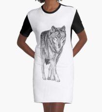 Wolf walk Graphic T-Shirt Dress