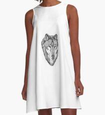 Wolf Face A-Line Dress