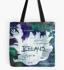 Island Karte Tote Bag