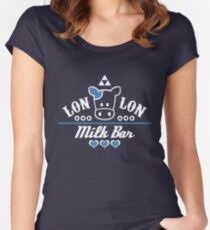 LonLon Milk Bar Women's Fitted Scoop T-Shirt