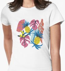 Pineapple + Jungle  Women's Fitted T-Shirt