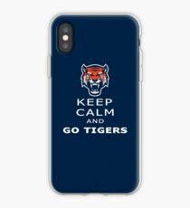 keep calm and go tigers - Detroit Baseball team Tigers - for Tigers and Detroit lovers iPhone Case