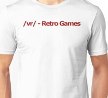 /vr/ - Retro Games 4chan Logo Unisex T-Shirt