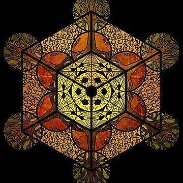 Sacred Geometry - Terra Cube by RAFAROMAN