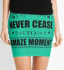 Never Ceasing to Amaze - Novelty  Mini Skirt