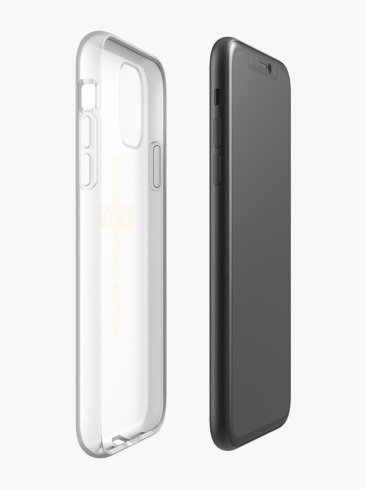 Coque iPhone «Croix jaune Pâques Design», par StylishTayla