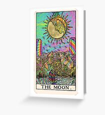 Psychadelic Tarot- The moon Greeting Card