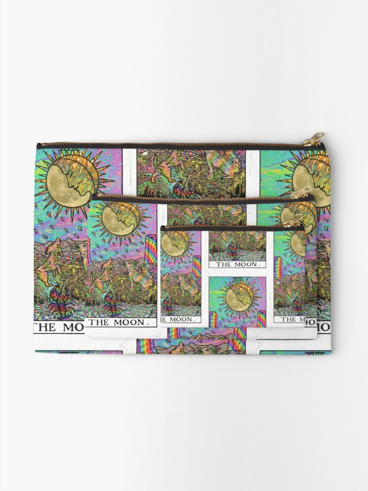 Alternate view of Psychadelic Tarot- The moon Zipper Pouch