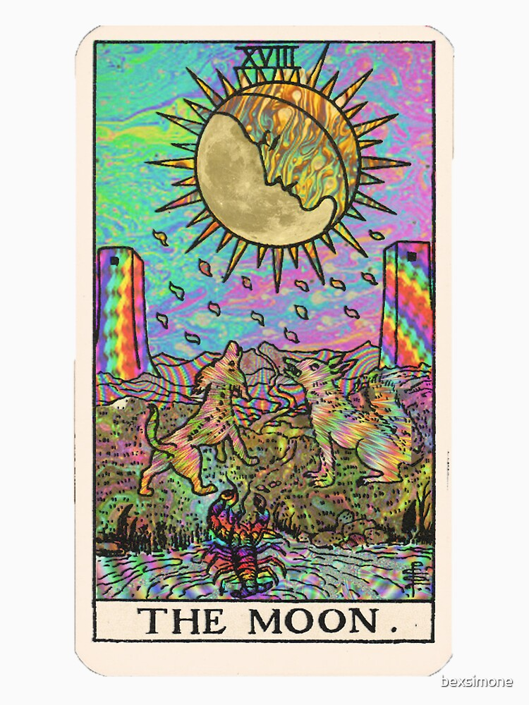 Psychadelic Tarot- The moon by bexsimone