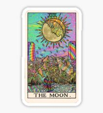 Psychadelic Tarot- The moon Sticker