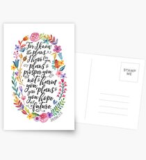 Hope and A Future | Jeremiah 29:11 Postcards