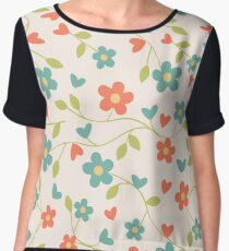 CONTRAST TANKS FLOWERS Chiffon Top