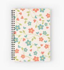 CONTRAST TANKS FLOWERS Spiral Notebook