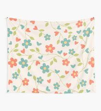 CONTRAST TANKS FLOWERS Wall Tapestry