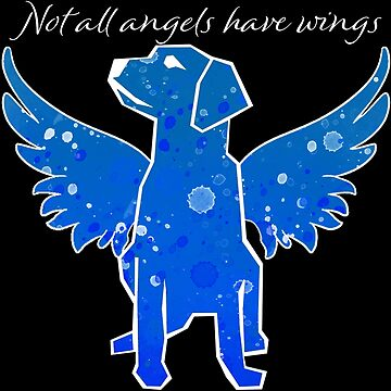 Not All Angels Have Wings (blue filled) by Brianna-Designs