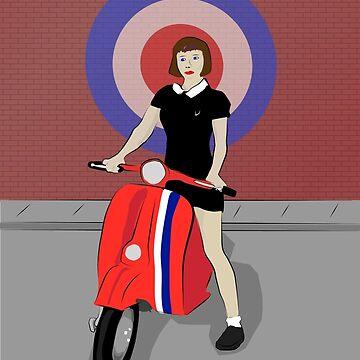 Scooter girl art by Auslandesign