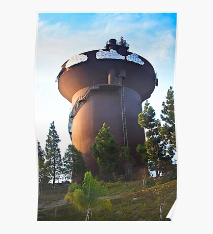 San Diego Water Tower Poster