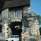 One way traffic through old wall C12 Nevers France 19840828 0002  by Fred Mitchell