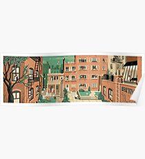 Reise-Poster - Hitchcocks Heckfenster - Greenwitch Village New York Poster