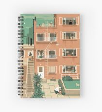 Travel Posters - Hitchcock's Rear Window - Greenwitch Village New York Spiral Notebook