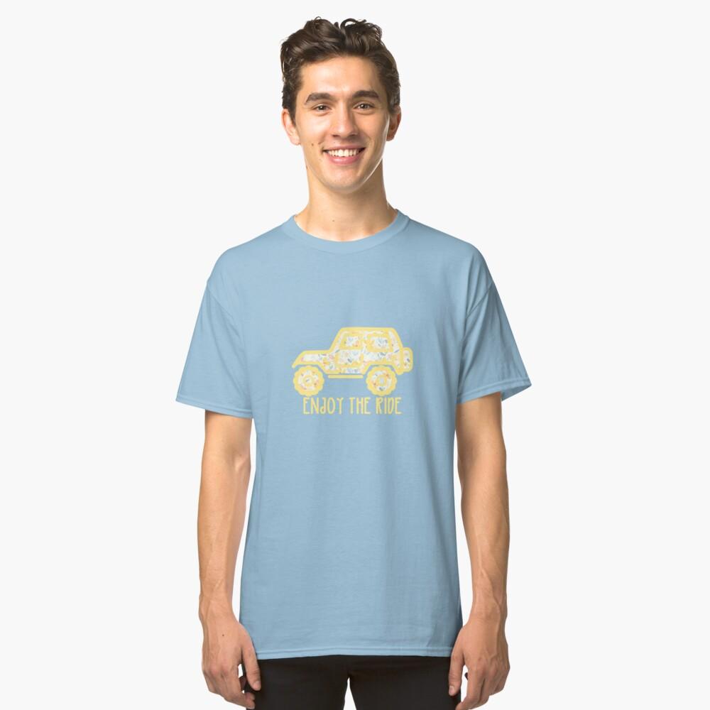Jeep floral (amarillo) Camiseta clásica