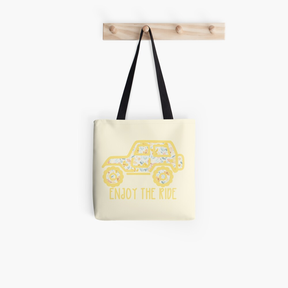 Floral Jeep (yellow) Tote Bag