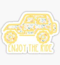 Pegatina Jeep floral (amarillo)