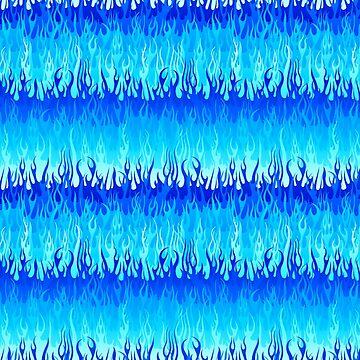 Blue Hot Rod Flames Pattern by wickedrefined