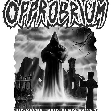 Opprobrium - 'Beyond The Unknown' (Black and White Album Cover Artwork) by opprobriumstore