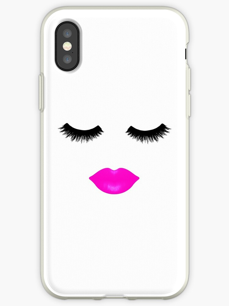 Lips and Lashes Pink by julieerindesign