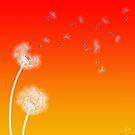 Wind Scattered Dandelion Seeds  by Lisa Knechtel