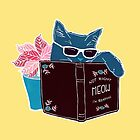 Cool Cat - Not Right Meow I'm Reading by flourishandflow