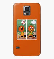 Orange Vogel singen Hülle & Klebefolie für Samsung Galaxy