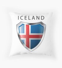 Iceland Shield - Full Size Throw Pillow